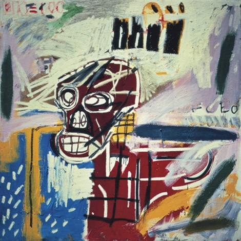 jean michel basquiat red skull